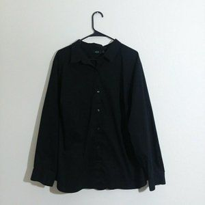 Apt 9 Womens Black Button Down Career Top Size 3X